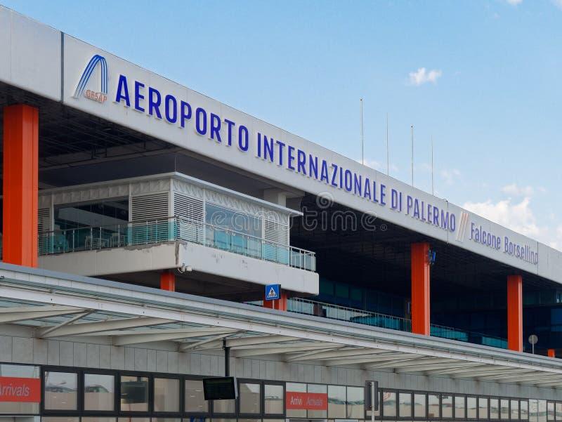 巴勒莫外视图Intrnational机场  免版税库存照片