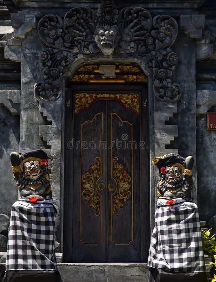 巴厘岛入口寺庙 库存图片