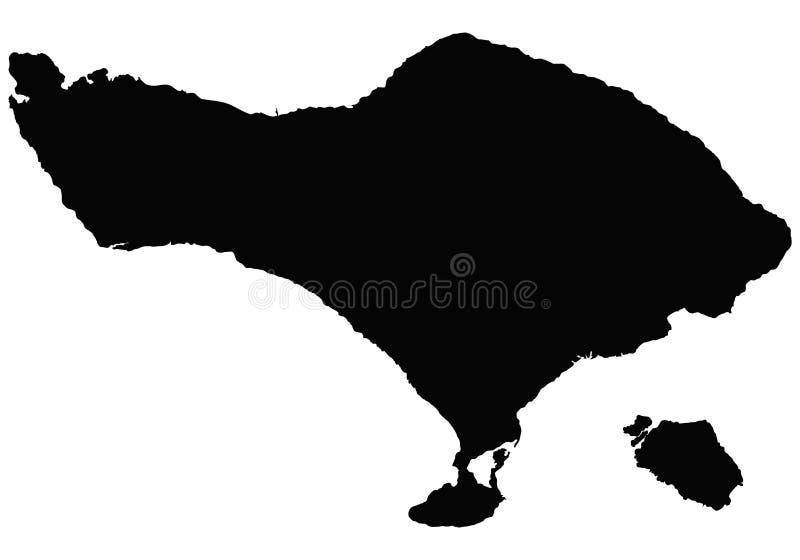巴厘岛地图传染媒介概述 库存例证