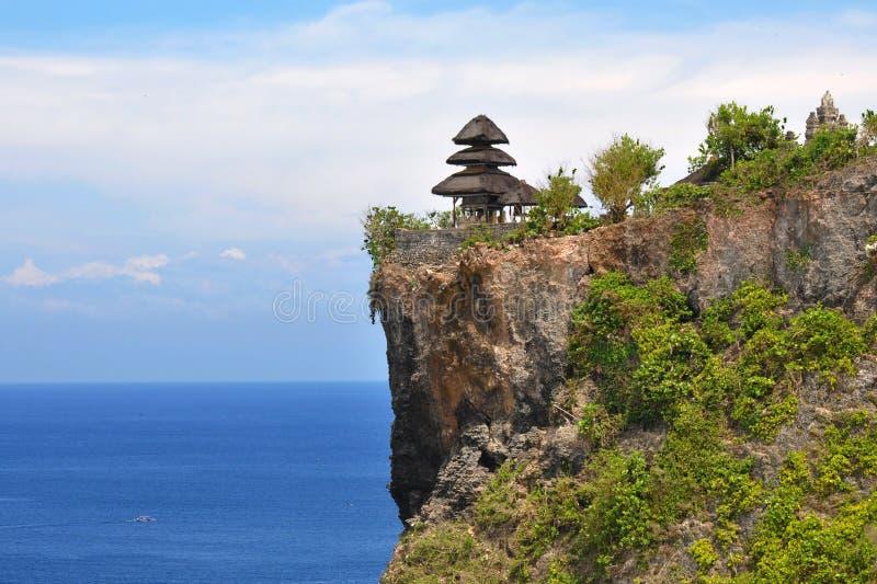 巴厘岛夏天2014年 佛教寺庙的看法 库存照片