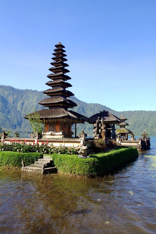 巴厘岛寺庙垂直水 库存图片