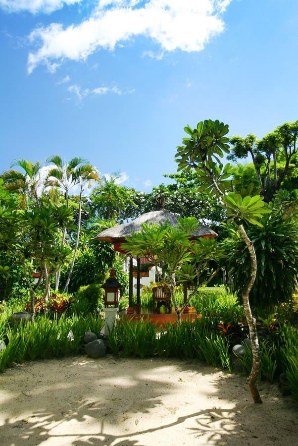 巴厘岛庭院手段 免版税图库摄影