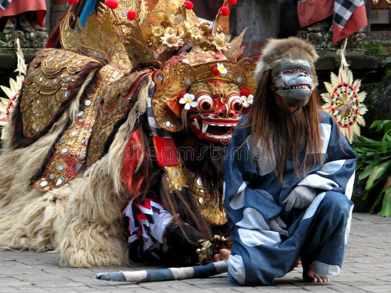 巴厘岛民间传说表现 图库摄影