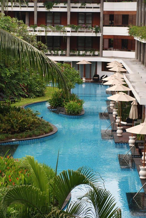 巴厘岛热带旅馆的豪华 图库摄影