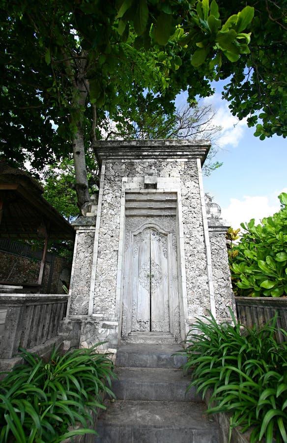 巴厘岛老入口房子 库存照片