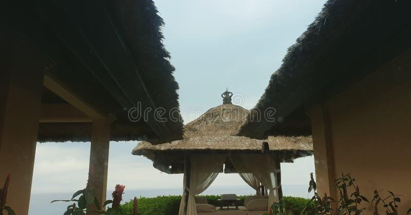巴厘岛芦苇屋顶 免版税库存图片