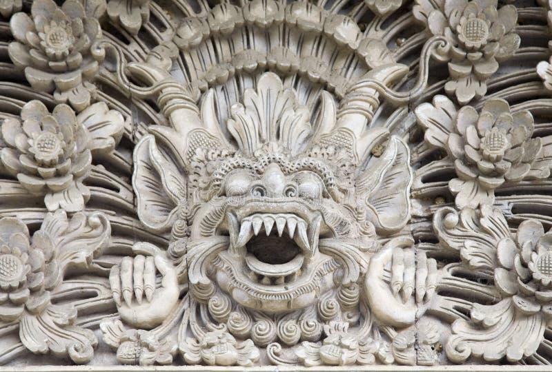 巴厘岛雕塑 库存图片