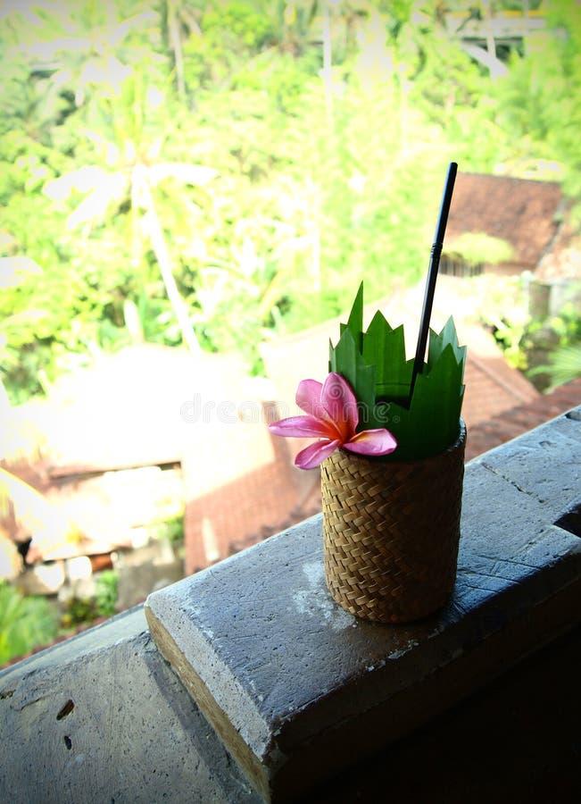 巴厘岛饮料旅馆手段欢迎 免版税库存照片