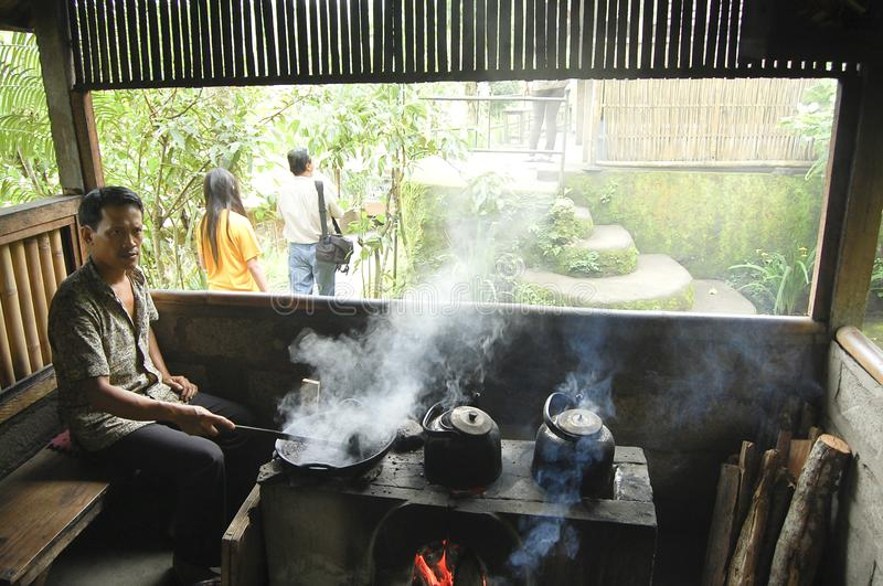 巴厘岛,印度尼西亚- 2009年1月30日: 库存照片