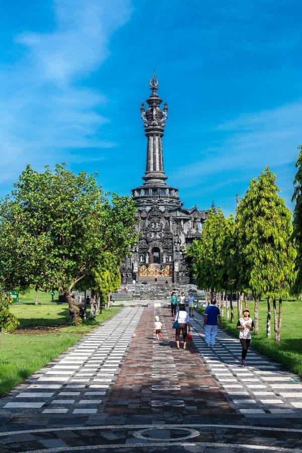 巴厘岛,印度尼西亚- 2017年4月10日:Puputan Badung公园,巴厘岛 库存照片