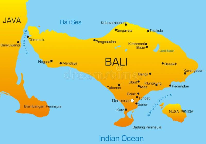 巴厘岛 向量例证