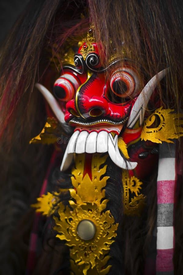 巴厘岛barong屏蔽 免版税库存照片
