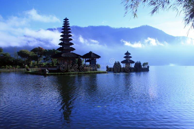 巴厘岛batur湖视图 库存图片