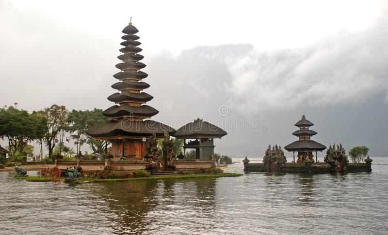 巴厘岛bratan danu pura寺庙ulun 库存照片