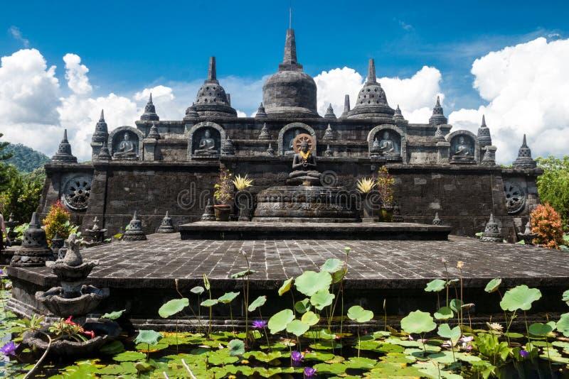巴厘岛budhist寺庙Brahma Vihara荒马Banjar 免版税图库摄影