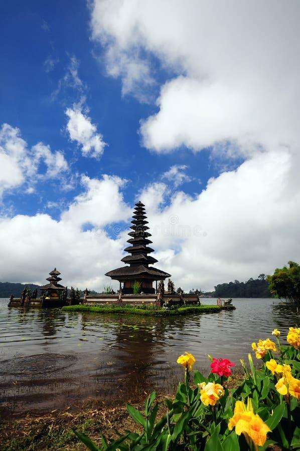 巴厘岛danu tample ulun 免版税图库摄影
