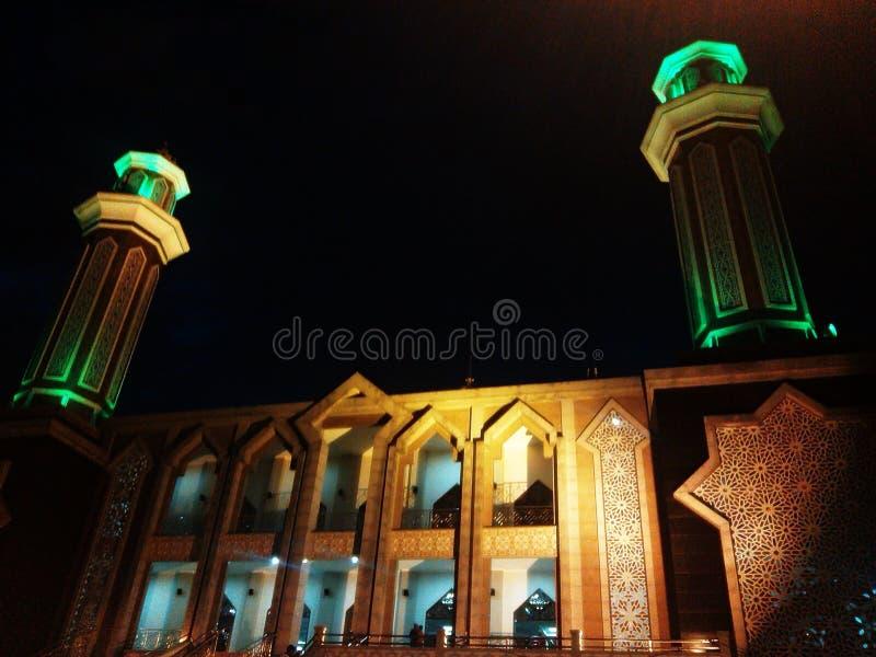 巴厘巴板的,印度尼西亚美丽的清真寺 免版税库存照片