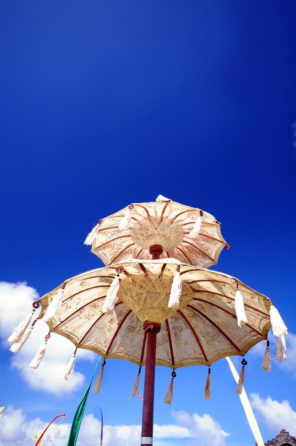 巴厘语伞 图库摄影