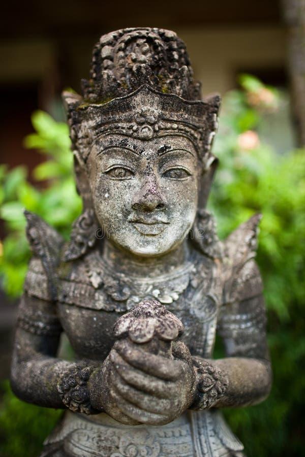 巴厘语印度雕象 库存图片