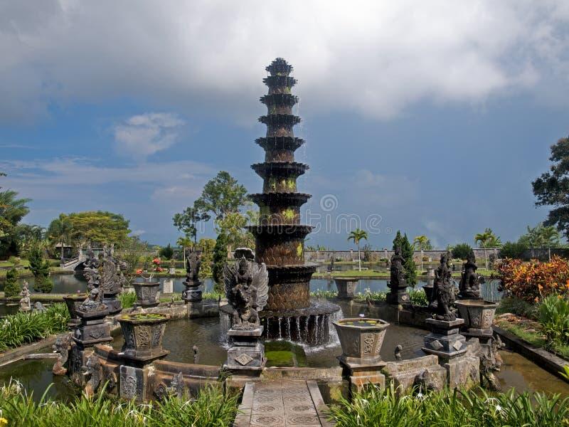巴厘语宫殿水 图库摄影