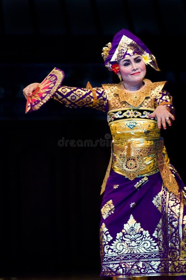 巴厘语舞蹈演员 免版税库存照片