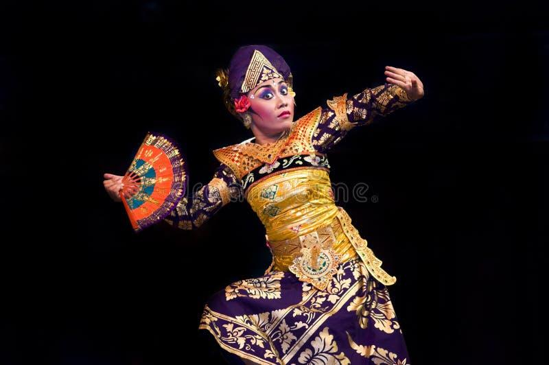巴厘语舞蹈演员 库存图片