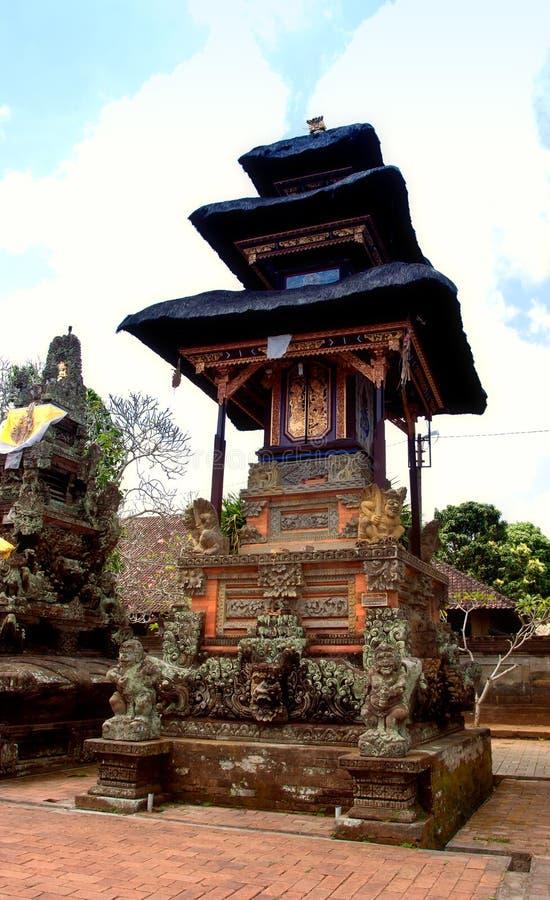 巴厘语beji传统pura的寺庙 库存图片