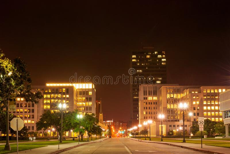 巴吞鲁日市中心 免版税库存照片