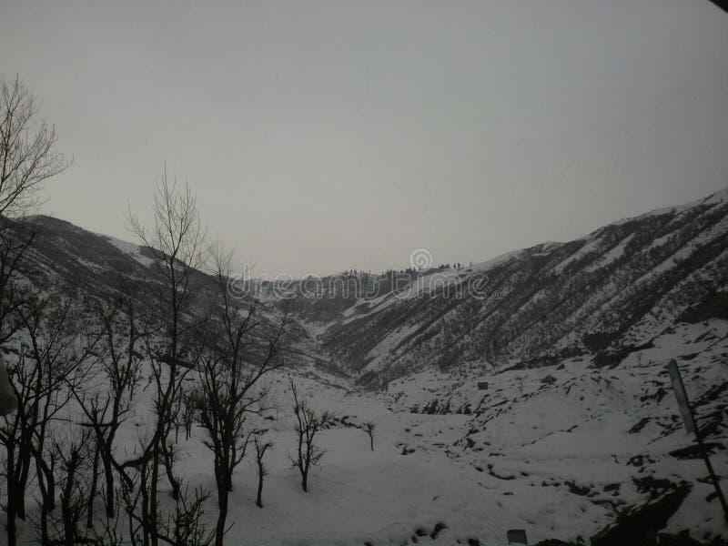 巴哈尔甘斯利那加的贫瘠的Betaab谷,印度,不可思议 免版税库存图片