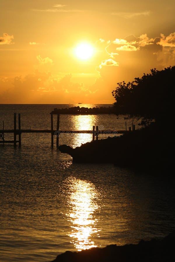巴哈马日落 免版税库存照片