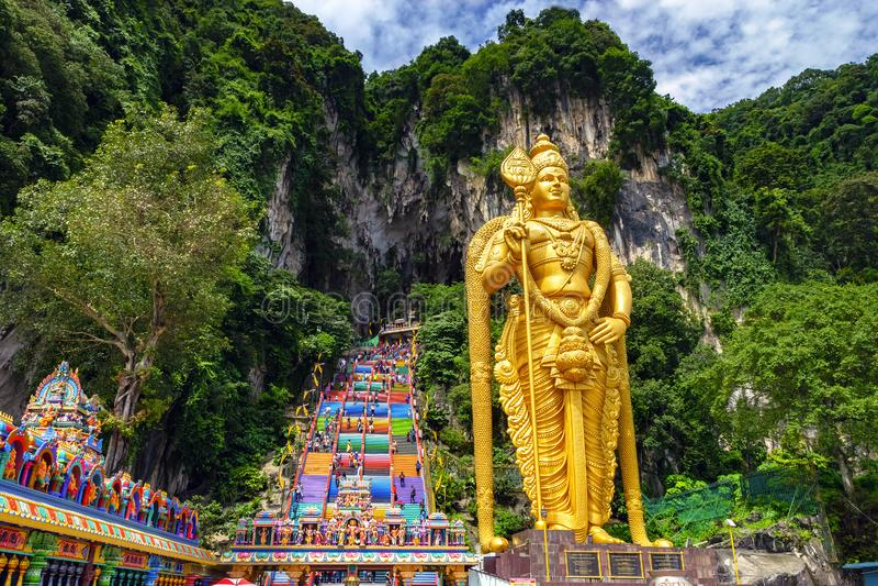 巴图洞在马来西亚,印度教寺庙 免版税库存图片