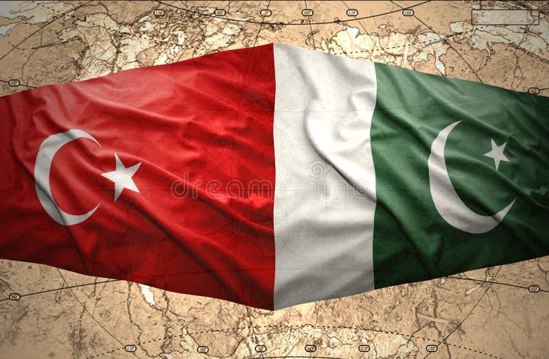 巴基斯坦和土耳其 皇族释放例证