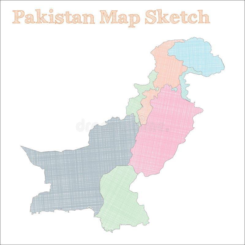 巴基斯坦地图 皇族释放例证