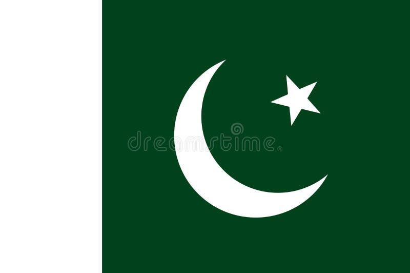 巴基斯坦的国旗 Ã'Å与巴基斯坦的旗子的½背景 皇族释放例证