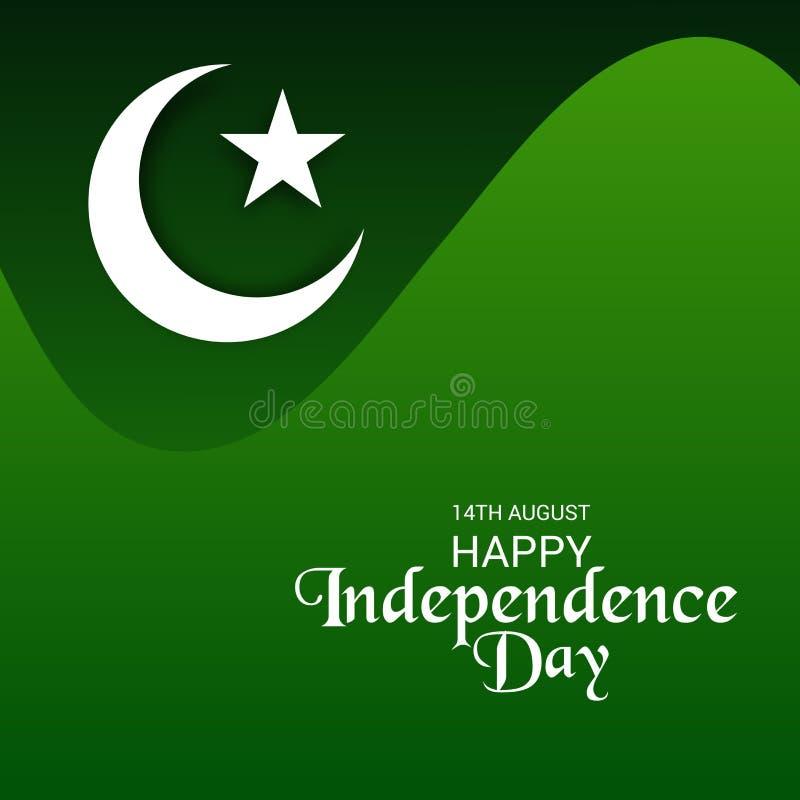巴基斯坦美国独立日,第14 8月 向量例证