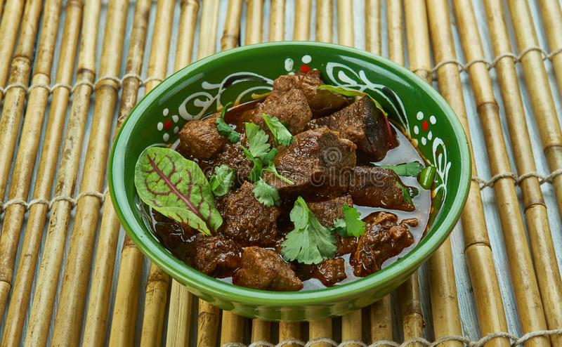 巴基斯坦Tawa羊肉 库存图片