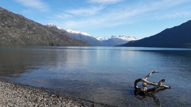 巴塔哥尼亚作了湖 免版税库存图片