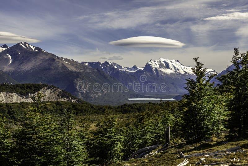 巴塔哥尼亚,阿根廷的南部的冰原的托雷峰 图库摄影