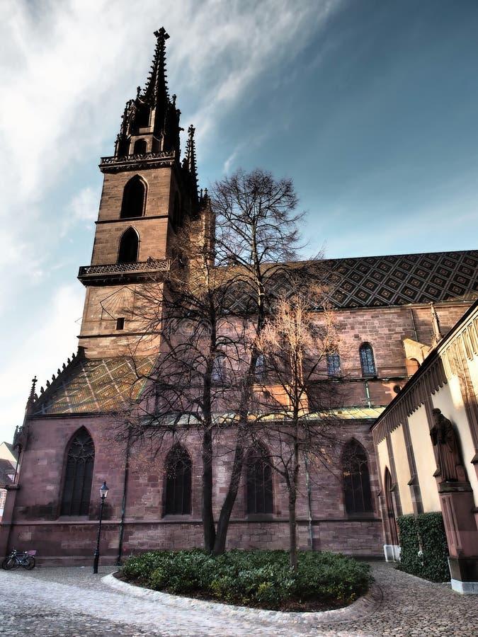 巴塞尔主教座堂-瑞士2019年 图库摄影