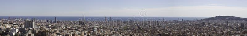 巴塞罗那全景 库存图片