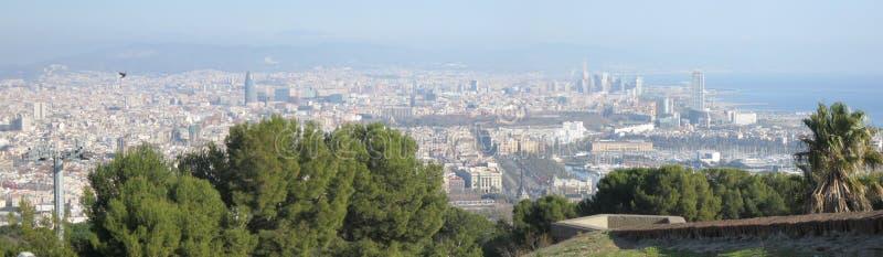 巴塞罗那全景 库存照片
