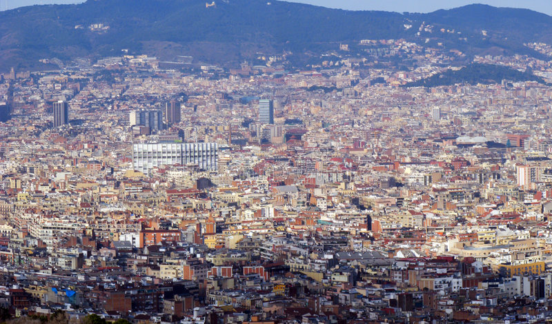 巴塞罗那全景 免版税库存照片