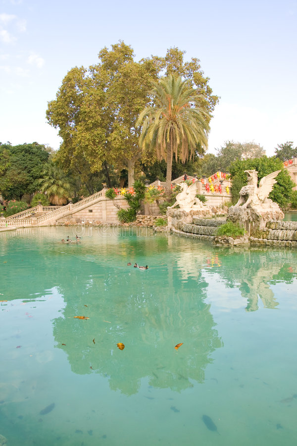 巴塞罗那公园 库存图片