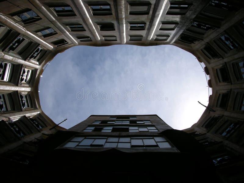 巴塞罗那内部la pedrera 免版税库存图片