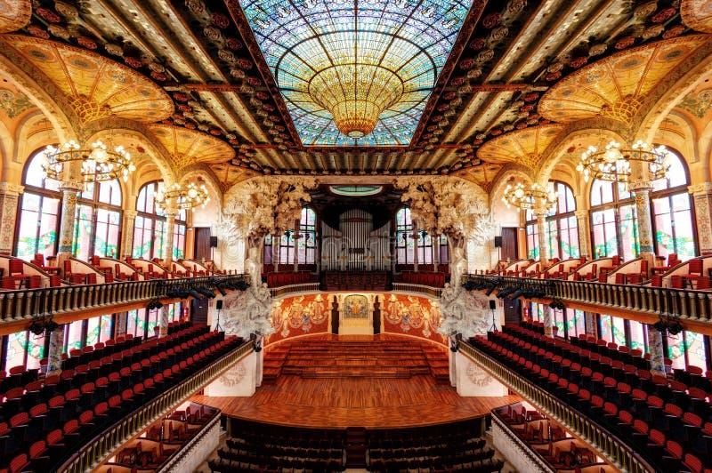 巴塞罗那剧院对称 图库摄影