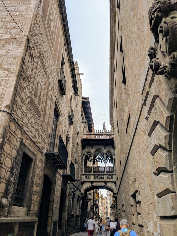 巴塞罗那哥特式季度 免版税库存图片