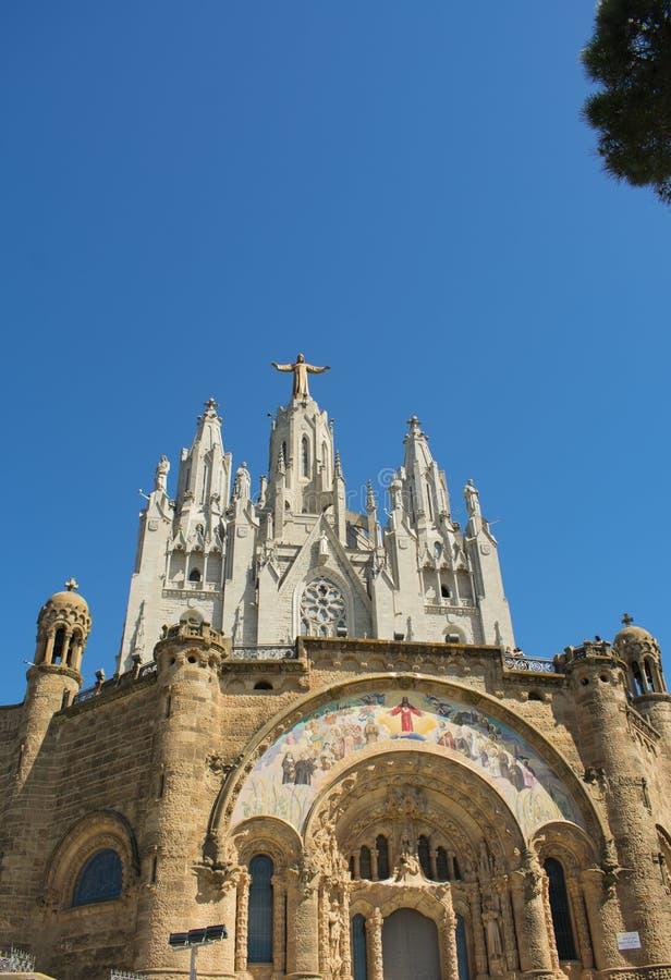 巴塞罗那圣心殿之美 库存照片