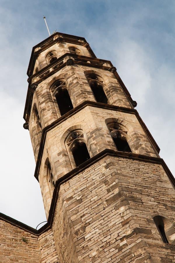 巴塞罗那大教堂Del Mar玛丽亚・圣诞老人 库存照片