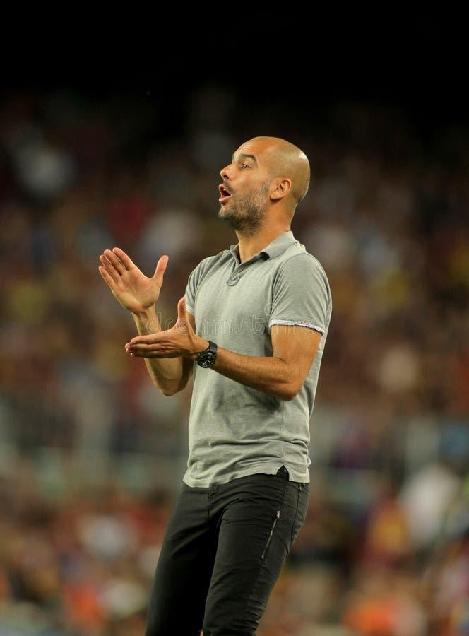 巴塞罗那教练fc guardiola josep 免版税库存图片