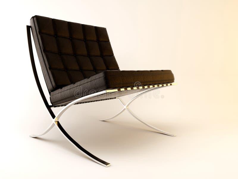 巴塞罗那椅子 库存例证